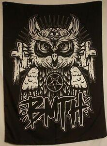 "Bring Me The Horizon BMTH Evil Owl Cloth Textile Fabric Poster Flag 30"" x 40"""
