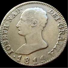 *Lucernae* España - José Napoleon, 4 reales, 1811, A.I. - Madrid (8489)