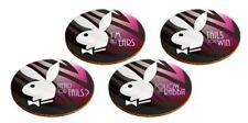 Licensed Playboy Set of 4 Cork Drinking Coasters - 9cm