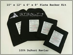 10 x 12 and 6 x 8 Plate Backer Kit Level 3-A 100% DuPont Kevlar