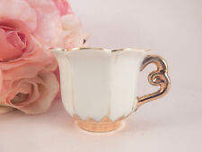 Tea Cup Antique Bone China Demitasse Cup Made in Occupied Japan Gold Gilt