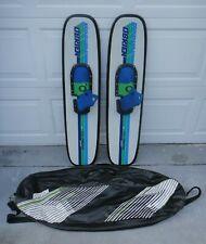 "Vintage O'BRIEN Coleman VIP TRICKS 42""Graphite Water Skis+Carry Case/Bag *NICE*"