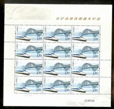 CHINA 2011-17 Beijing to Shanghai High Speed Train stamps full sheet