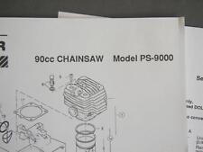 1993 Dolmar 90cc Chainsaw Illustr Parts List Model PS-9000 & 1994 Svc Bulletin