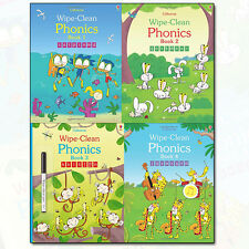 Mairi Mackinnon Wipe-Clean Phonics 4 Books Children's Collection Set Pack NEW