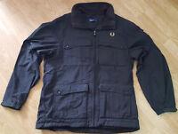 Fred Perry Sportswear Jacket Coat Fleece Black Size M