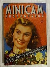 Minicam Photography Magazine June 1940 Hedy LaMarr Rita Hayworth Ann Sheridan