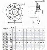 SUCFC201 to SUCFC206 Round Bracket Mounted Ball Bearing 12-30mm Bore Select