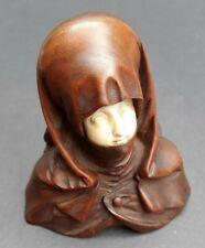 Original Franz Zelezny Carved Walnut Figurine, Nuremburg Madonna (Circa 1915)