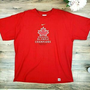 Nike Team Canada Women's Olympic Hockey Champions Vancouver 2010 T-Shirt Size XL