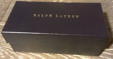 Genuine RALPH LAUREN Designer Empty Navy Gift or Storage Box Case 7x3.25x2.75