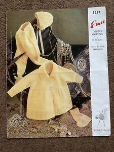 Vintage Knitting Pattern Emu Double Knitting Pram Set