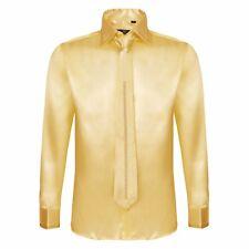Robelli Men's Long Sleeve Shirt Collection Smart Satin, Cotton Dress & Tie Sets