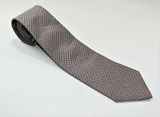 Men's Huntsman Savile Row Silk NECKTIE Tie MADE IN ENGLAND BLACK WHITE RED