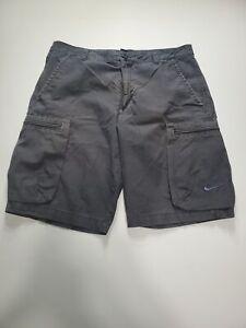 "Nike Men's Size 32 Cargo Shorts Dark Gray Flat Front 10""L"
