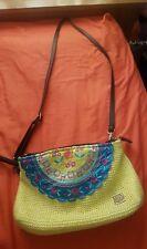 KOALA BAY BRIGHT YELLOW EMBROIDERED MESSENGER HAND BAG HIPPY BOHO FESTIVAL CUTE