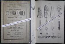 Rare Catalogue MANUFACTURE D'ORFEVRERIE ERCUIS 1879 Cuillères Oise Pantographie