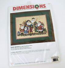 Dimensions Counted Cross Stitch Kit Santa Quintet 8572 Barbara Mock New Vintage