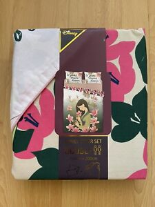 PRIMARK DISNEY MULAN REVERSIBLE DOUBLE BEDDING WITH PILLOW CASES BRAND NEW