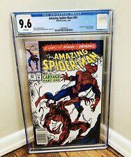 AMAZING SPIDER-MAN 361 CGC 9.6 Newsstand White pages 1st Full CARNAGE 💎Rare HTF