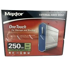 Maxtor One Touch 250GB External Hard Drive Storage And Backup NEW WRAPPED BOX