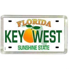 "Key West Florida License Plate Small Fridge Acrylic Magnet 2"" x 1.25"""