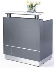 Receptionist Reception Counter Reception Desk Metallic Grey Office Furniture