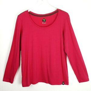 Cabela's Women Plus Long Sleeve T-Shirt 2X Pink 100% Merino Wool Icebreaker