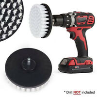 "5"" White Drill Brush Attachment for Cleaning Carpet Leather and Upholstery Kit"
