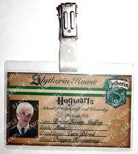 Draco Malfoy ID Badge Hogwarts Slytherin Cosplay Costume Prop Gift Comic Con