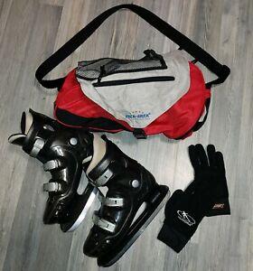 Schlittschuhe / Eishockey ☆ Gr. 42-43 ☆  Eislaufschuhe +Tasche+Handschuhe