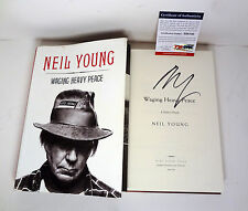NEIL YOUNG CSNY SIGNED AUTOGRAPH WAGING HEAVY PEACE 1ST/1ST HC BOOK PSA/DNA COA