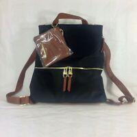 Steve Madden BSpencer Backpack w Wallet Black Brown Zip Adjustable Strap NEW*^