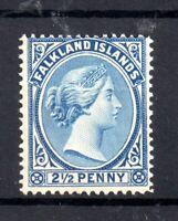 Falkland Islands 1894 2 1/2d Prussian Blue SG29 mint MH WS19490