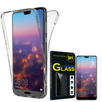 "Etui Coque Silicone Gel 360° protection Huawei P20 Pro 6.1"" + Film Verre Trempe"