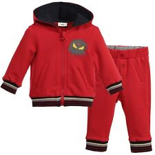 FENDI BABY RED MONSTER TRACKSUIT 9 MONTHS