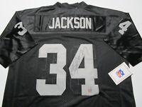 BO JACKSON / AUTOGRAPHED OAKLAND RAIDERS BLACK THROWBACK JERSEY / BO HOLO