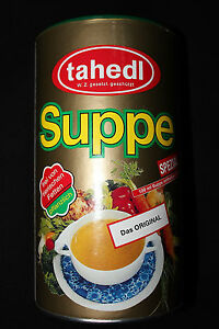 3 X tahedl Suppe 45 Ltr. 900 g Dosen
