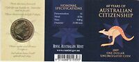 2009 Australia Citizenship 60th Anniversary $1 Coin - Brisbane 'B' Privymark