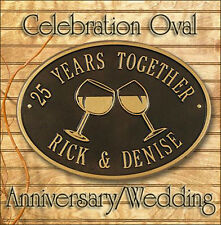 Whitehall Anniversary Wedding Celebration Oval Plaque - Rust Free & Personalized