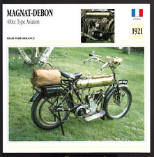 1921 Magnat-Debon 400cc Type Aviation Motorcycle Photo Spec Sheet Info Stat Card