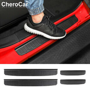 Door Sill Guards Entry Scuff Plate Cover for Jeep Wrangler JL JLU JT Accessories