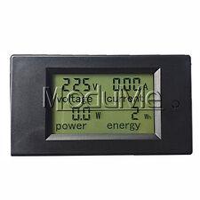 20A AC Digital LCD Panel Power Meter Monitor Power Energy Voltmeter Ammeter MO