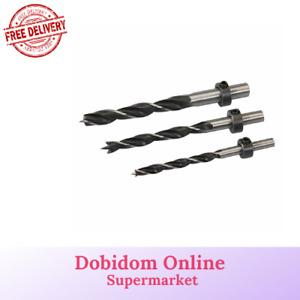 Silverline Dowel Drill Bit Set for Pocket Hole Dowel Jig Depth Collar 6,8,10mm