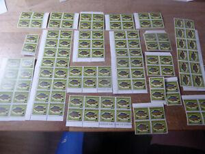 "Guyana 1981, Aufdruckmarkenpaar ""Fische"", 116 Werte, fehlendes Andreaskreuz"