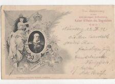 Zur Erinnerung Geburtstag Kaiser Wilhelm Des Grossen Austria 1897 Postcard 484a