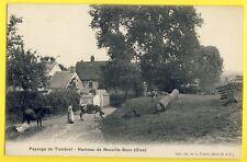 cpa Rare NEUVILLE BOSC (Oise) Paysage HAMEAU de TUMBREL Vaches Fermière Bois