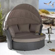 Polyrattan Sonneninsel Sonnenliege Lounge Drehmuschel Strandkorb Gartenliege