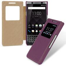 TETDED Premium Leather Case for BlackBerry KEYone Dijon V (LC: Black) 9 Color