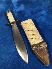 New listing Rare Ww1 / Ww2 Us Bolo Fighting Knife w Scabbard #911
